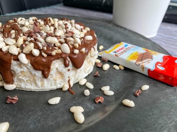 Jednoporcjowe ciasto a'la Kinder Country